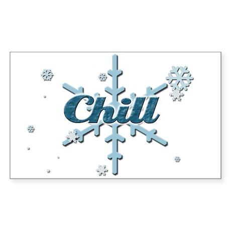 Chill Rectangle Sticker