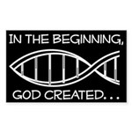 God - creation Sticker (Rectangle)