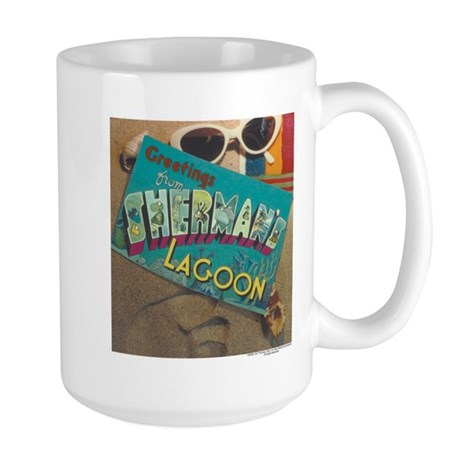 Postcard Greetings Large Mug