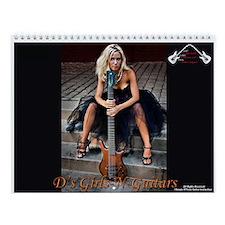D's Girls-N-Guitars Wall Calendar