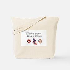 Cute Donate life organ donor peace symbol love Tote Bag
