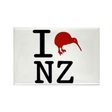 I Love New Zealand Rectangle Magnet