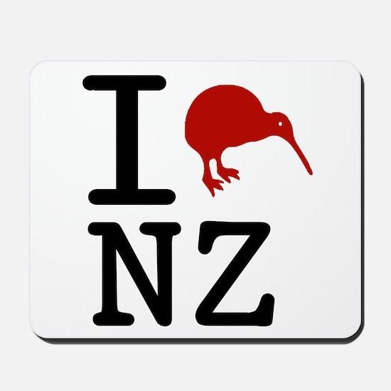 I Love New Zealand Mousepad