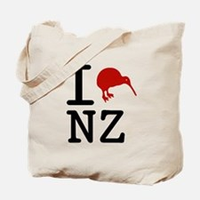 I Love New Zealand Tote Bag