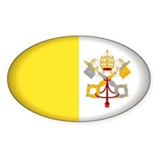 Vatican City Oval Sticker (50 pk)