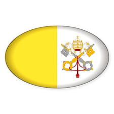 Vatican City Oval Sticker (10 pk)