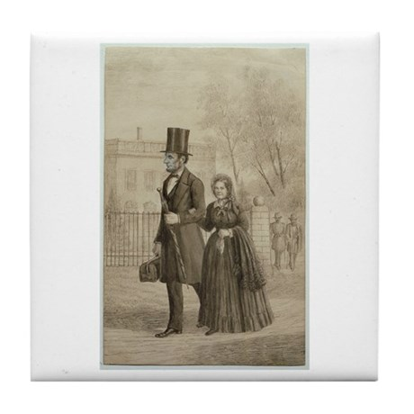 Abraham & Mary Todd Lincoln Tile Coaster