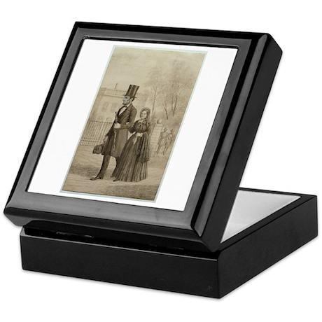 Abraham & Mary Todd Lincoln Keepsake Box