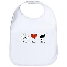 Peace Love Kiwis Bib