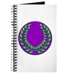 Purple with green laurel Journal