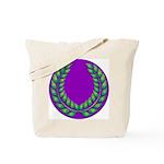 Purple with green laurel Tote Bag