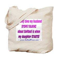 Husband Talks Tote Bag