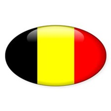 Belgium Oval Decal