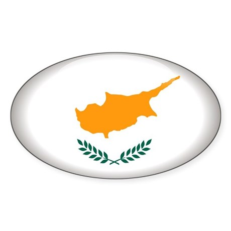 Cyprus Oval Sticker