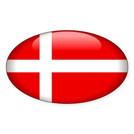 Denmark Oval Sticker (10 pk)