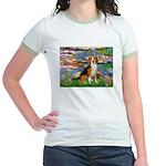 Lilies (#2) - Beagle #7 Jr. Ringer T-Shirt
