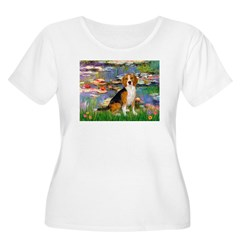 Lilies (#2) - Beagle #7 T-Shirt