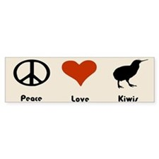 Peace Love Kiwis Bumper Bumper Sticker