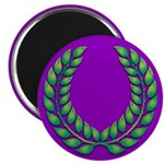Purple with green laurel 2.25