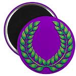 Purple with green laurel Magnet