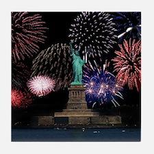 Liberty Fireworks Tile Coaster