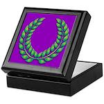 Purple with green laurel Keepsake Box