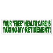 """Free"" Health Care? (sticker)"