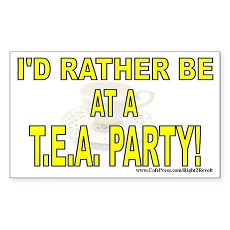 T.E.A. Party (sticker)