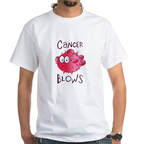 Cancer Blows White T-Shirt