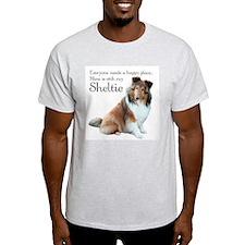 Happy Place Sheltie T-Shirt