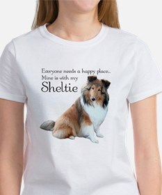 Happy Place Sheltie Women's T-Shirt