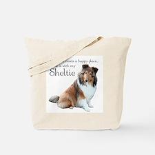 Happy Place Sheltie Tote Bag