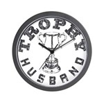 Trophy Husband Wall Clock