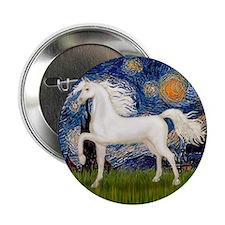 """Starry / Arabian Horse (W1) 2.25"""" Button"""