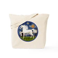 Starry / Arabian Horse (W1) Tote Bag
