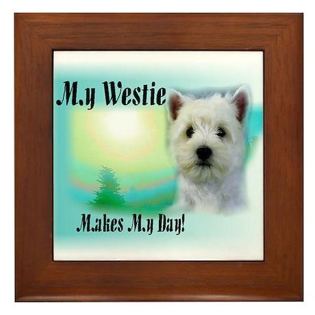 West Highland White Terrier Framed Tile
