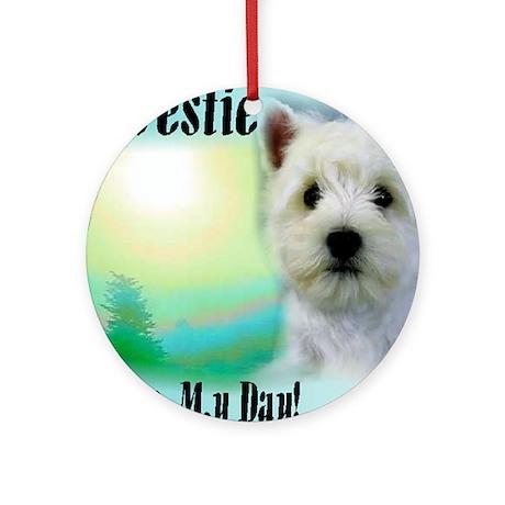 West Highland White Terrier Ornament (Round)