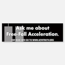 Free-Fall Acceleration Bumper Bumper Bumper Sticker