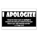 Christian Apologetics Sticker (Rectangle)