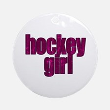 Hockey Girl Ornament (Round)
