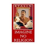 Imagine No Religion (Atheism - Sticker (Rectangle)