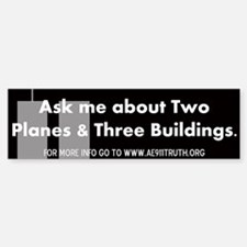 Two Planes Three Buildings Bumper Bumper Bumper Sticker