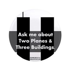 "Two Planes Three Buildings 3.5"" Button"