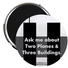 """Two Planes Three Buildings 2.25"""" Magnet (10 pack)"""