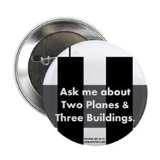 "Two Planes Three Buildings 2.25"" Button (100 pack)"