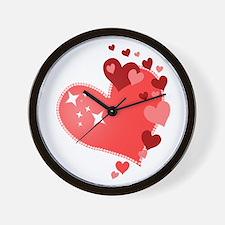 I Love You Hearts Wall Clock