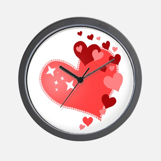 I Love You Hearts Wall Clock