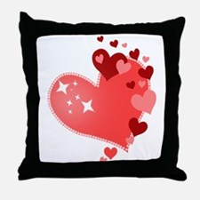 I Love You Hearts Throw Pillow