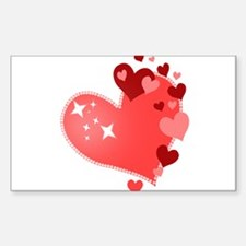 I Love You Hearts Decal