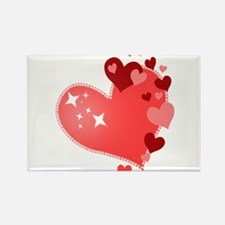 I Love You Hearts Rectangle Magnet (10 pack)